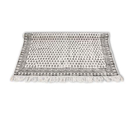 Vidaxl tappeto di cotone 180x270 cm bianco e nero - Tappeto bianco nero ...