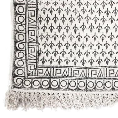 Vidaxl alfombra de algod n 180x270 cm blanca y negra - Alfombras de algodon ...