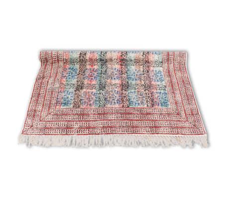 Vidaxl alfombra de algod n 180x120 cm roja - Alfombras de algodon ...
