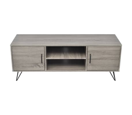 vidaXL TV Cabinet 120x40x45 cm Grey[3/5]