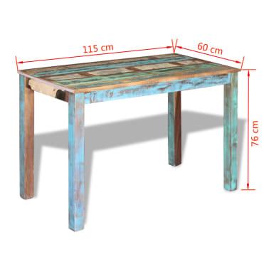 "vidaXL Dining Table Solid Reclaimed Wood 45.3""x23.6""x30""[8/8]"