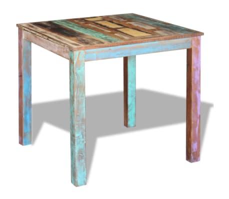 vidaXL Mesa de comedor madera reciclada maciza 80x82x76 cm   vidaXL.es