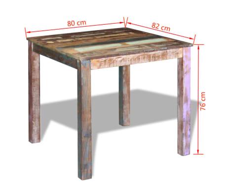 vidaXL Mesa de comedor madera reciclada maciza 80x82x76 cm | vidaXL.es