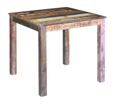 Shop Vidalxl Spisebord Massivt Genbrugstr 80x82x76 Cm