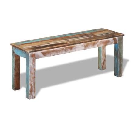 vidaXL Lavice z masivního recyklovaného dřeva 110x35x45 cm