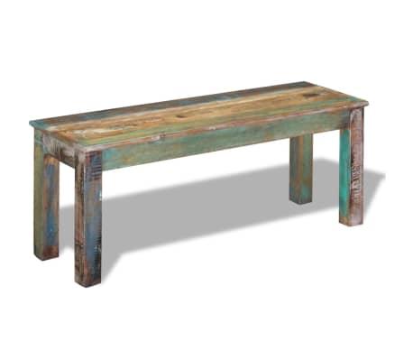 "vidaXL Bench Solid Reclaimed Wood 43.3""x13.8""x17.7""[2/8]"