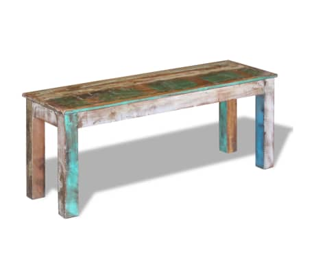 "vidaXL Bench Solid Reclaimed Wood 43.3""x13.8""x17.7""[4/8]"