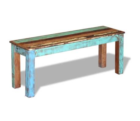 "vidaXL Bench Solid Reclaimed Wood 43.3""x13.8""x17.7""[5/8]"