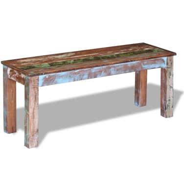 "vidaXL Bench Solid Reclaimed Wood 43.3""x13.8""x17.7""[3/8]"