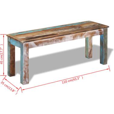 "vidaXL Bench Solid Reclaimed Wood 43.3""x13.8""x17.7""[8/8]"
