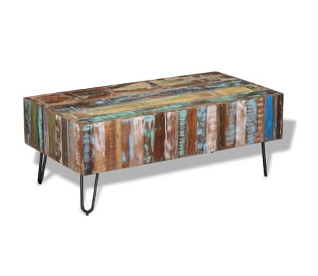 "vidaXL Coffee Table Solid Reclaimed Wood 39.4""x19.7""x15""[1/8]"
