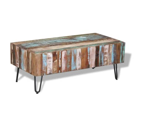 "vidaXL Coffee Table Solid Reclaimed Wood 39.4""x19.7""x15""[2/8]"