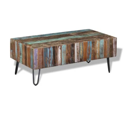 "vidaXL Coffee Table Solid Reclaimed Wood 39.4""x19.7""x15""[5/8]"
