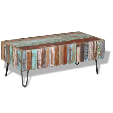 "vidaXL Coffee Table Solid Reclaimed Wood 39.4""x19.7""x15""[3/8]"