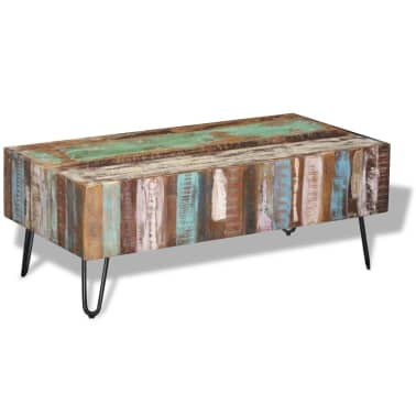 "vidaXL Coffee Table Solid Reclaimed Wood 39.4""x19.7""x15""[4/8]"