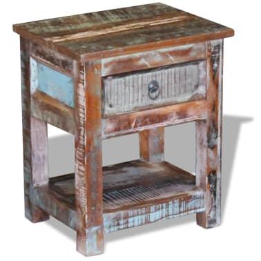 Kleiner Tisch Altholz.Vidaxl Beistelltisch Mit 1 Schublade Altholz Massiv 43x33x51