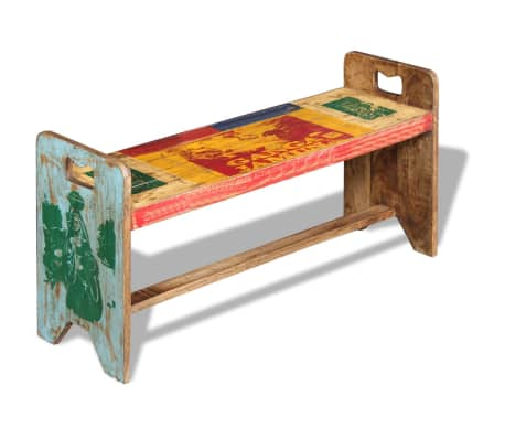 vidaXL Cola Bench Solid Reclaimed Wood 100x30x50 cm[1/8]