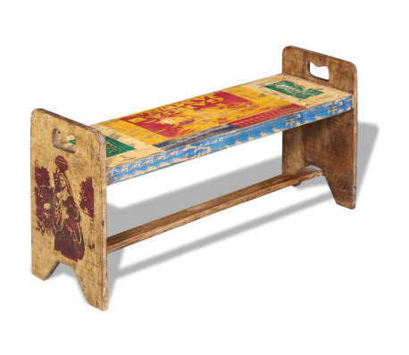 vidaXL Cola Bench Solid Reclaimed Wood 100x30x50 cm[3/8]