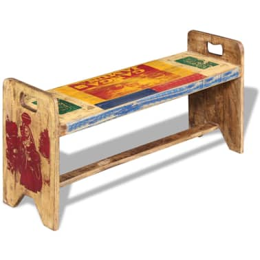 vidaXL Cola Bench Solid Reclaimed Wood 100x30x50 cm[2/8]