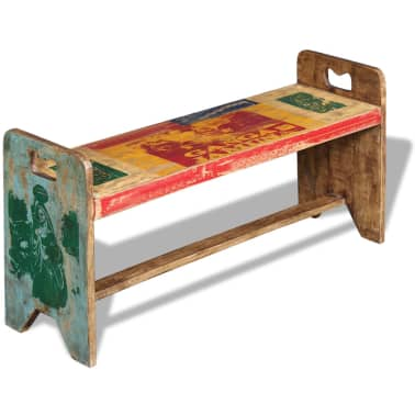 vidaXL Cola Bench Solid Reclaimed Wood 100x30x50 cm[4/8]