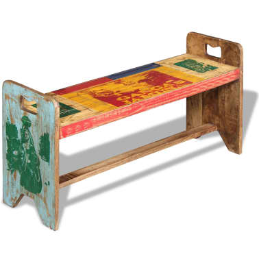 vidaXL Cola Bench Solid Reclaimed Wood 100x30x50 cm[5/8]