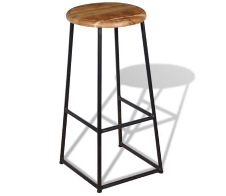 vidaXL Barske stolice od masivne tikovine 2 kom[2/9]