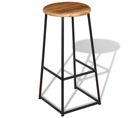 vidaXL Barske stolice od masivne tikovine 2 kom[4/9]