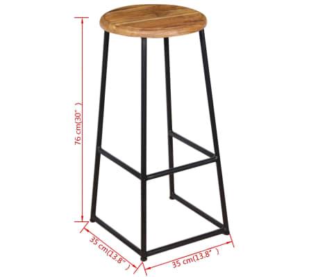 vidaXL Barske stolice od masivne tikovine 2 kom[9/9]
