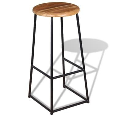 vidaXL Barske stolice od masivne tikovine 2 kom[5/9]