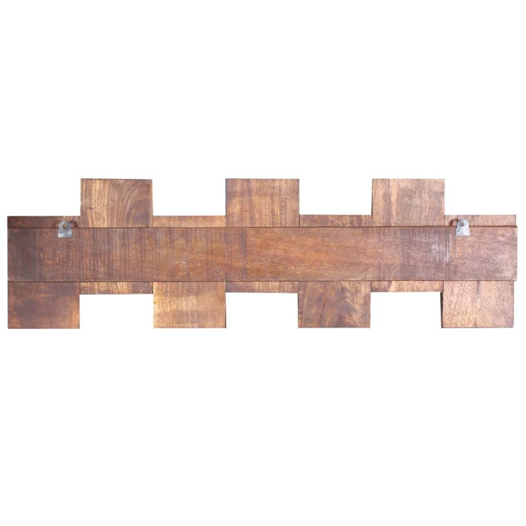 vidaXL Kapstok met 7 haken massief gerecycled hout