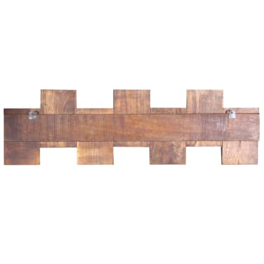 vidaXL Coat Rack with 7 Hooks Solid Reclaimed Wood[7/9]