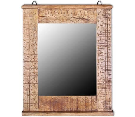 vidaXL Bathroom Vanity Cabinet with Mirror Solid Mango Wood[12/20]