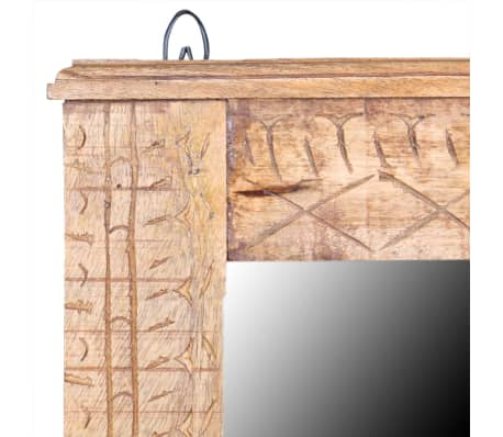 vidaXL Bathroom Vanity Cabinet with Mirror Solid Mango Wood[16/20]