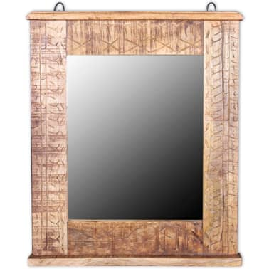 vidaXL Bathroom Vanity Cabinet with Mirror Solid Mango Wood[13/20]