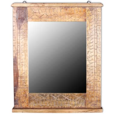 vidaXL Bathroom Vanity Cabinet with Mirror Solid Mango Wood[14/20]