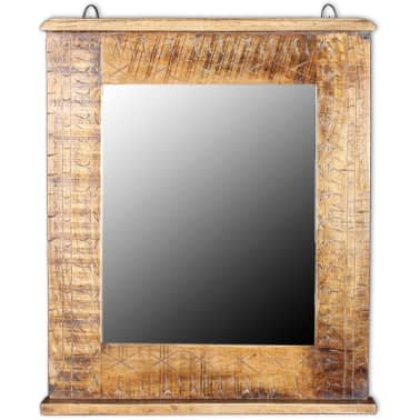 vidaXL Bathroom Vanity Cabinet with Mirror Solid Mango Wood[15/20]