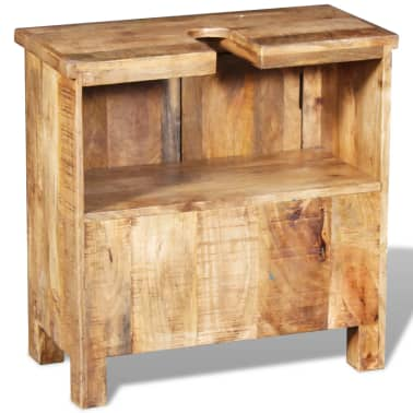 vidaXL Bathroom Vanity Cabinet with Mirror Solid Mango Wood[7/20]