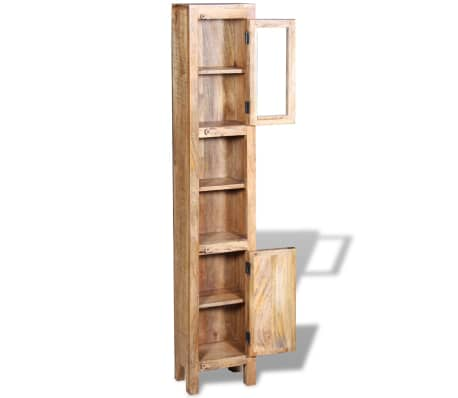 vidaXL Vanity Cabinet with Mirror and 2 Side Cabinets Solid Mango Wood[6/36]