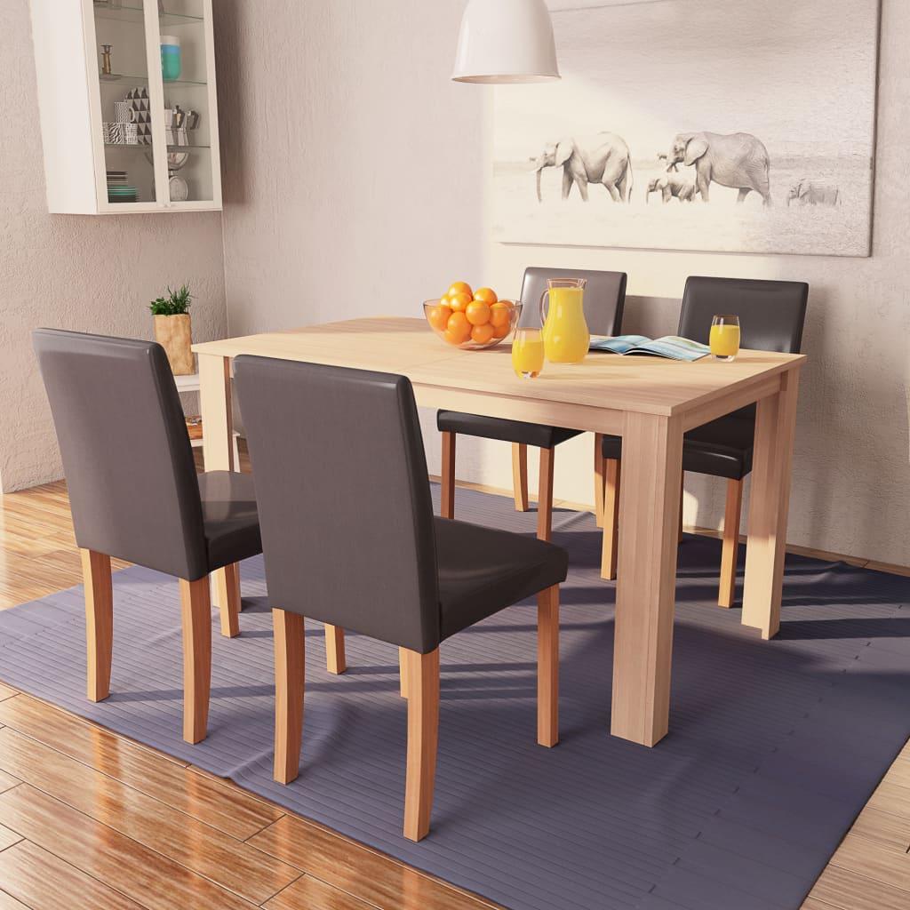 Söögilaud ja toolid, 5 osa..
