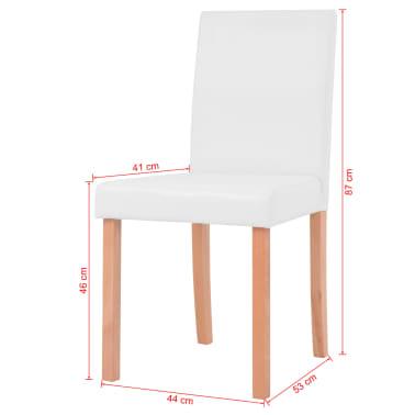 vidaXL Jedilna miza in stoli 5 delni komplet umetno usnje hrast krem[13/13]