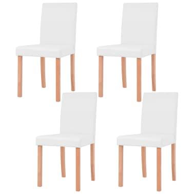 Vidaxl tavolo e sedie da pranzo 5 pz in similpelle quercia for Sedie in similpelle