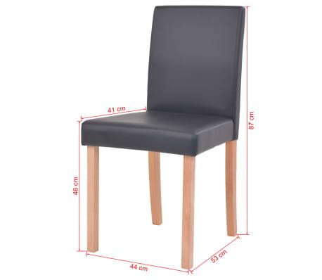 vidaXL Eettafel met stoelen kunstleer en eikenhout zwart 7 st[13/13]