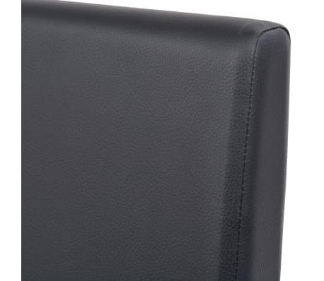 vidaXL Eettafel met stoelen kunstleer en eikenhout zwart 7 st[10/13]