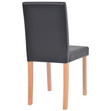 vidaXL Eettafel met stoelen kunstleer en eikenhout zwart 7 st[9/13]