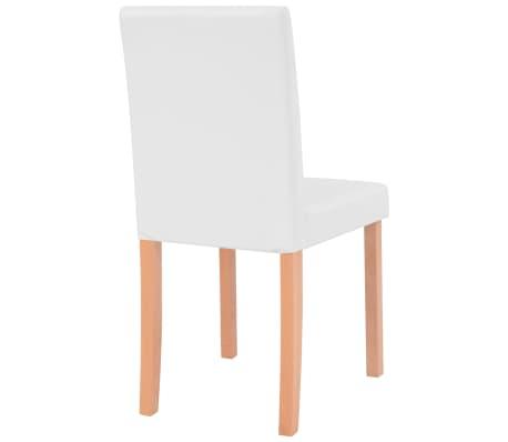 vidaXL Jedilna miza in stoli 7 delni komplet umetno usnje hrast krem[9/13]