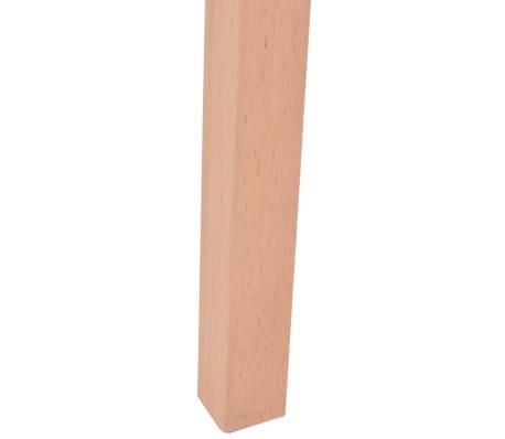 vidaXL Jedilna miza in stoli 7 delni komplet umetno usnje hrast krem[11/13]