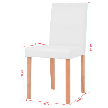vidaXL Jedilna miza in stoli 7 delni komplet umetno usnje hrast krem[13/13]