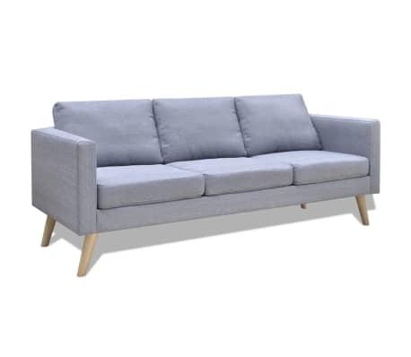 vidaXL 3-Seater Sofa Light Gray[1/4]