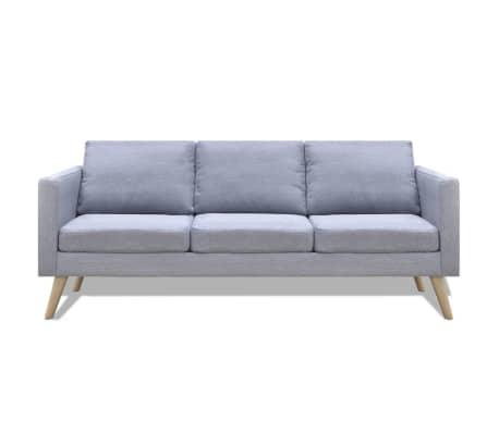 vidaXL 3-Seater Sofa Light Gray[2/4]