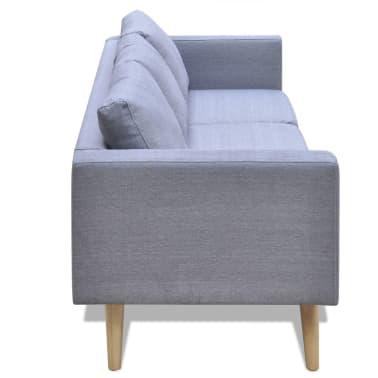 vidaXL 3-Seater Sofa Light Gray[3/4]